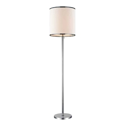 "67"" 1 Light Floor Lamp with Chrome finish"
