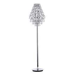 "67"" 8 Light Floor Lamp with Chrome finish"
