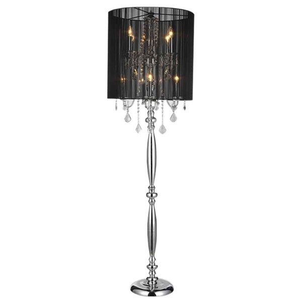 "Picture of 67"" 8 Light Floor Lamp with Chrome finish"