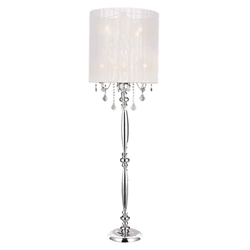 "67"" 8 Light Floor Lamp with Chrome finish"