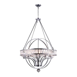 """69"""" 12 Light  Chandelier with Chrome finish"""
