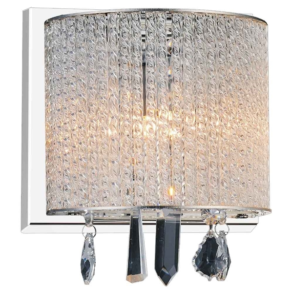 """Picture of 7"""" 1 Light Bathroom Sconce with Chrome finish"""