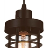"Picture of 7"" 1 Light Down Mini Pendant with Chocolate finish"