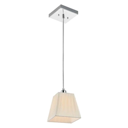 "7"" 1 Light Down Mini Pendant with Chrome finish"