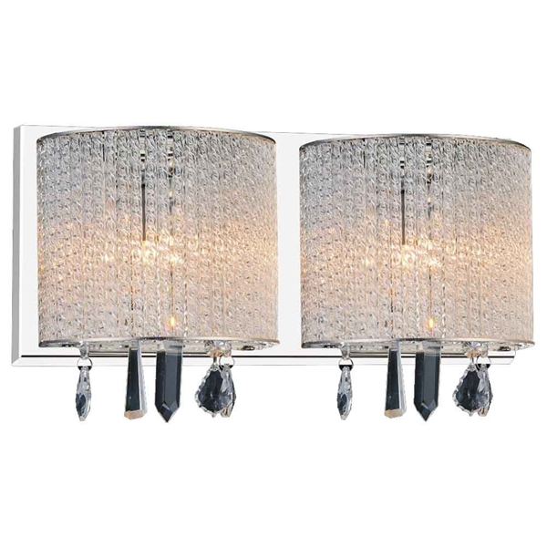"Picture of 7"" 2 Light Vanity Light with Chrome finish"