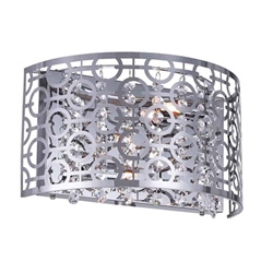 """7"""" 2 Light Wall Sconce with Chrome finish"""