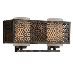 "7"" 2 Light Wall Sconce with Golden Bronze finish"
