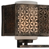 """Picture of 7"""" 2 Light Wall Sconce with Golden Bronze finish"""