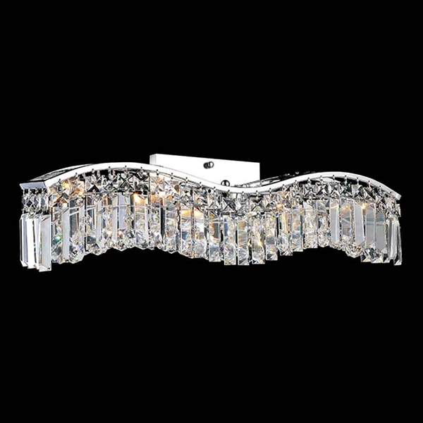 "Picture of 7"" 3 Light Vanity Light with Chrome finish"