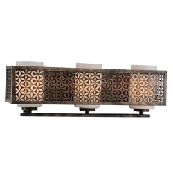 "7"" 3 Light Wall Sconce with Golden Bronze finish"