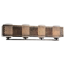 "7"" 4 Light Wall Sconce with Golden Bronze finish"