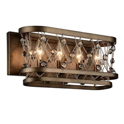 """7"""" 4 Light Wall Sconce with Speckled Bronze finish"""