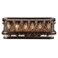 "7"" 6 Light Wall Sconce with Speckled Bronze finish"