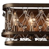 "Picture of 7"" 6 Light Wall Sconce with Speckled Bronze finish"