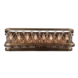 """7"""" 8 Light Wall Sconce with Speckled Bronze finish"""