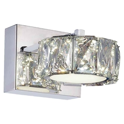 "7"" LED Bathroom Sconce with Chrome finish"
