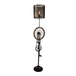 "70"" 1 Light Floor Lamp with Antique Brass finish"