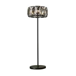 "70"" 8 Light Floor Lamp with Black finish"