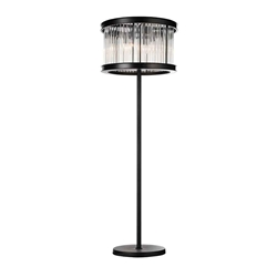 "72"" 6 Light Floor Lamp with Black finish"