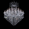 "Picture of 74"" 55 Light Up Chandelier with Chrome finish"