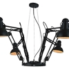 "Picture of 78"" 6 Light Down Chandelier with Black finish"