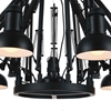"Picture of 78"" 9 Light Down Chandelier with Black finish"