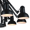 """Picture of 78"""" 9 Light Down Chandelier with Black finish"""