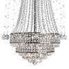 "Picture of 79"" Chateaux Modern Foyer Crystal Chandelier Mirror Stainless Steel Base 12+8 Lights"