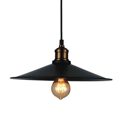 "8"" 1 Light Down Mini Pendant with Black finish"
