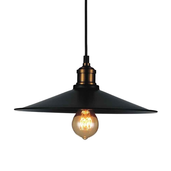 """Picture of 8"""" 1 Light Down Mini Pendant with Black finish"""