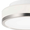 "Picture of 8"" 1 Light Drum Shade Flush Mount with Satin Nickel finish"