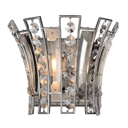 "8"" 1 Light Wall Sconce with Antique Forged Silver finish"