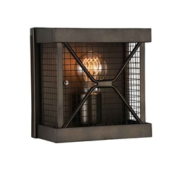 """8"""" 1 Light Wall Sconce with Light Brown finish"""