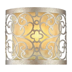 "8"" 1 Light Wall Sconce with Rubbed Silver finish"