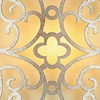 """Picture of 8"""" 1 Light Wall Sconce with Rubbed Silver finish"""