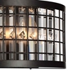 "Picture of 8"" 3 Light Wall Sconce with Brown finish"