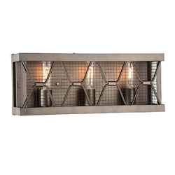 """8"""" 3 Light Wall Sconce with Light Brown finish"""