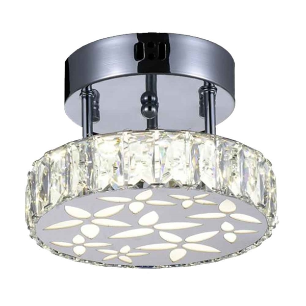 """Picture of 8"""" LED  Flush Mount with Chrome finish"""