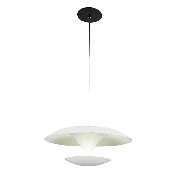 """Picture of 8"""" LED Down Mini Pendant with White finish"""