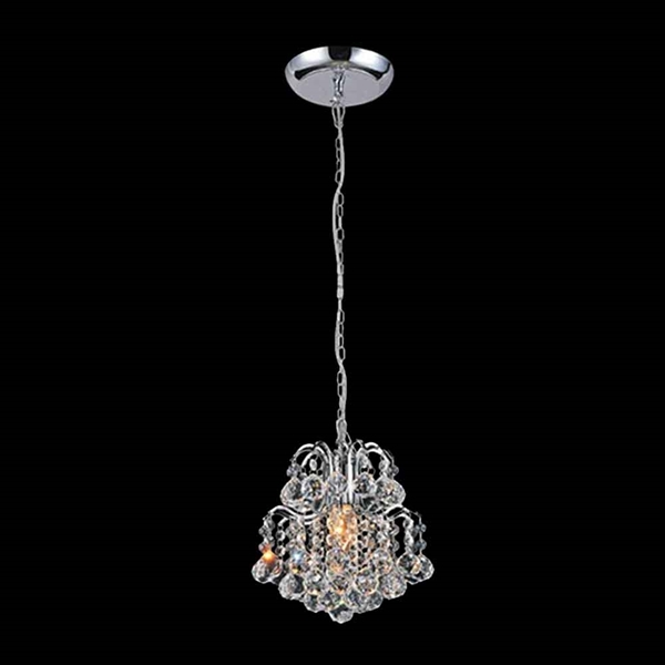 "Picture of 9"" 1 Light  Mini Chandelier with Chrome finish"