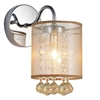 """Picture of 9"""" 1 Light Bathroom Sconce with Chrome finish"""