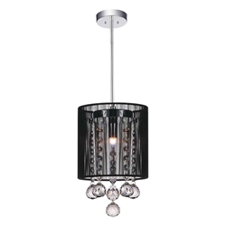 "9"" 1 Light Down Mini Pendant with Chrome finish"