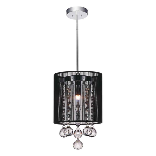 "Picture of 9"" 1 Light Down Mini Pendant with Chrome finish"