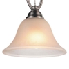 """Picture of 9"""" 1 Light Down Mini Pendant with Satin Nickel finish"""