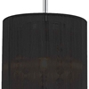 """Picture of 9"""" 1 Light Drum Shade Mini Pendant with Chrome finish"""