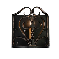 """9"""" 1 Light Wall Sconce with Autumn Bronze finish"""