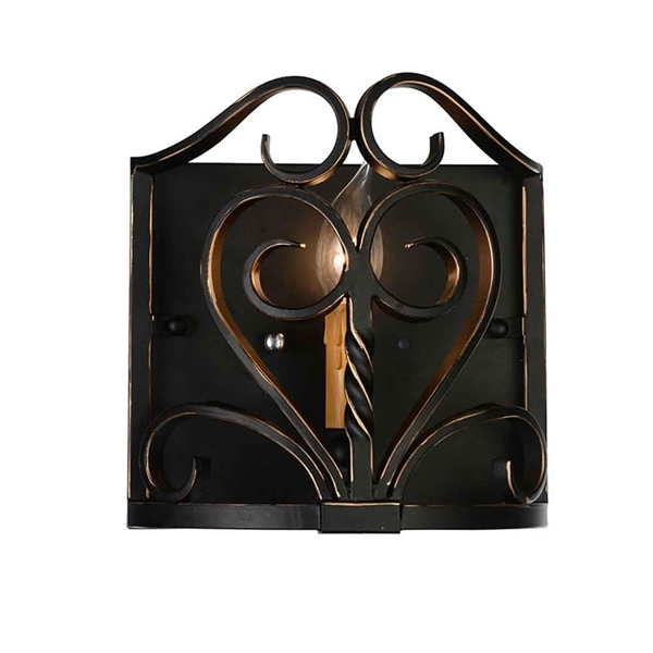"""Picture of 9"""" 1 Light Wall Sconce with Autumn Bronze finish"""