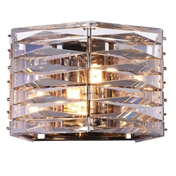 "9"" 2 Light Vanity Light with Bright Nickel finish"