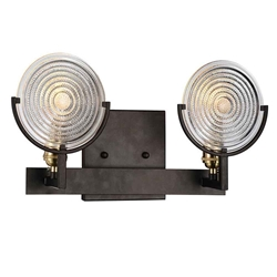 """9"""" 2 Light Wall Sconce with Brown finish"""