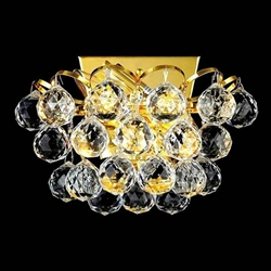 """9"""" 2 Light Wall Sconce with Gold finish"""